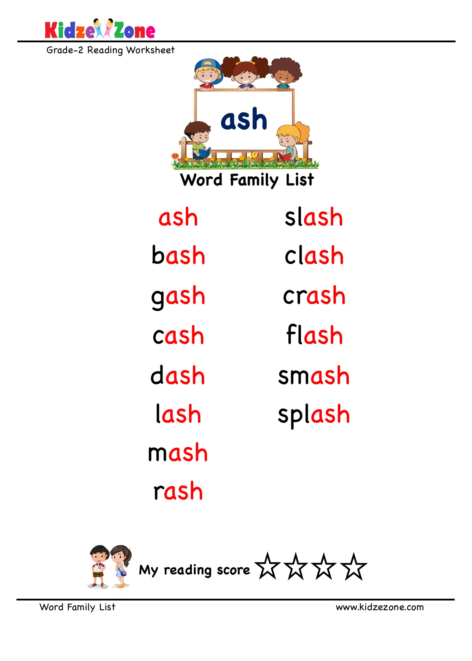 Explore And Learn Words From Ash Word Family With Word