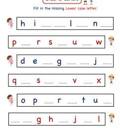 Kindergarten Letter worksheets - Write Missing Letter [ 2249 x 1606 Pixel ]