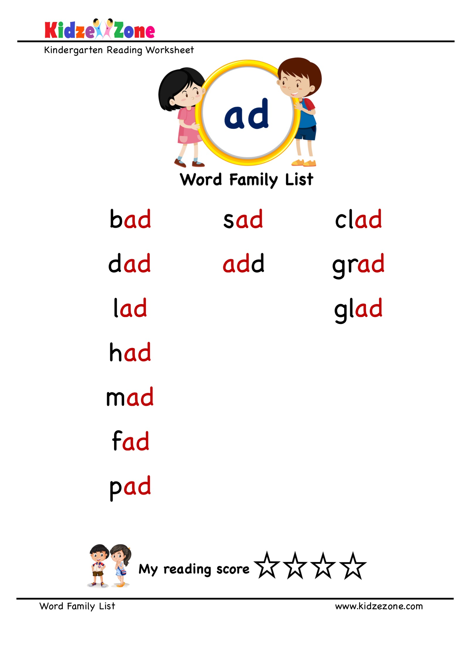 Explore And Learn Words From Ad Word Family With Word