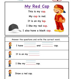 Kindergarten worksheets - ap word family reading Comprehension 4 [ 2249 x 1606 Pixel ]