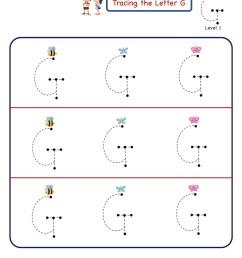 Letter G Letter Tracing Worksheet [ 1125 x 803 Pixel ]
