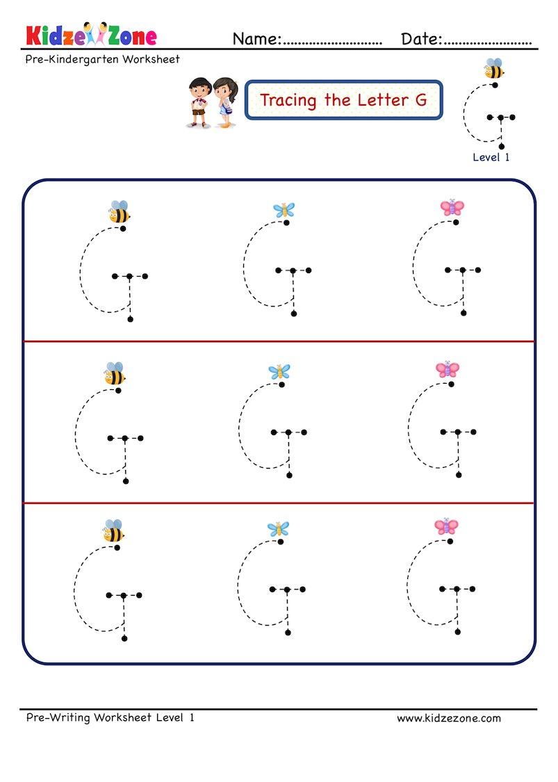 medium resolution of Letter G Letter Tracing Worksheet