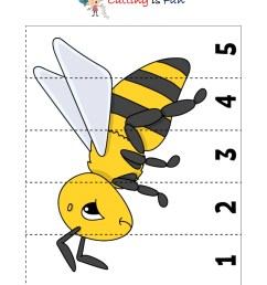 Cutting and Pasting Activity with Honey Bee - KidzeZone [ 2181 x 1557 Pixel ]