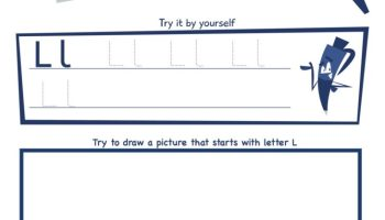 Letter L Super Smart Tracing, Writing, Drawing and Activity Worksheet