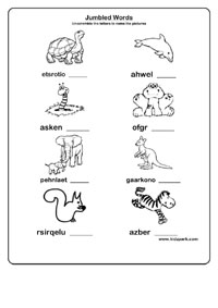 Worksheet For Kids About Jumbled Words,Teachers Resources