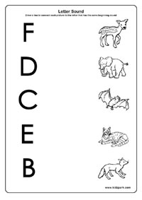 Letter and sound- A to Z worksheets,Teachers Resources