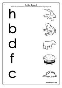Grade 1 English Learning Letter Sounds Worksheets