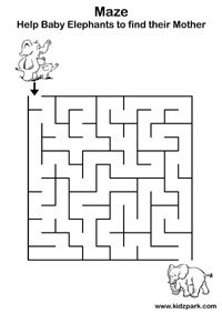 Printable Easy Maze Worksheets,Kindergarten Worksheets