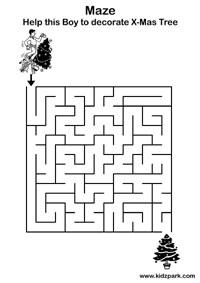 Easy Maze Activity Sheet For Kindergarten,Play School
