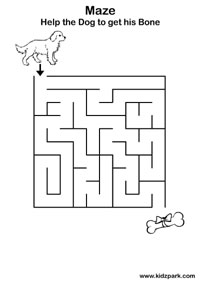 Simple Mazes Worksheets,Home Schooling Activity Sheets