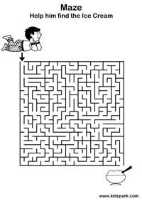 Easy Maze Practice Sheets For Kids,Kindergarten Curriculam