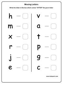 LKG English Capital Missing Letters Worksheet,Kindergarten