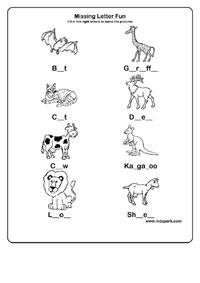 Alphabet Missing Letters Work Sheet For Grade 2,Activity