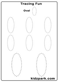 Tracing Shapes Worksheets Kindergarten Activity Sheets