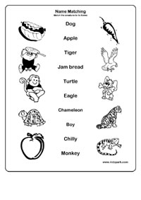 Identify and Match Names Worksheets,Early Teaching