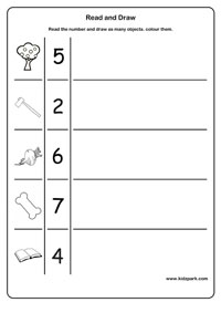 Read And Draw Worksheets Kindergarten Curriculam Printable