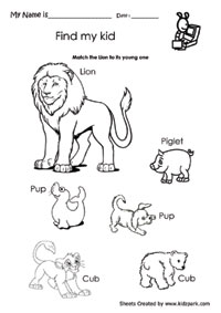 Animals Worksheets,First Grade Cut and Paste Worksheets