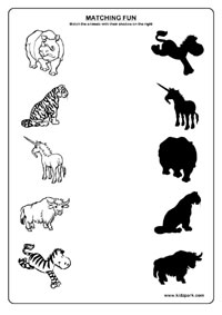 Animals Worksheets,L K G Worksheets,Printable Activity Sheets