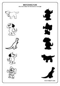 Second Grade Worksheets,Matching Worksheets,Kindergarten