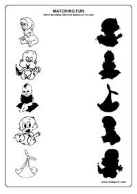 Shadow Fun Worksheets , Activity Sheets for kids, Funs