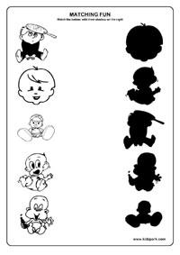 Babies Worksheets,EVS Worksheets,Printable and