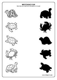 Sea Animals Worksheets,Worksheets for Kids,Home Schooling