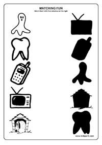 Objects Worksheets,Printable Activity Sheets,E V S Worksheets