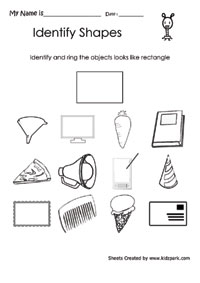 Identify And Ring The Rectangle Objects Teachers