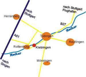 Anfahrtsplan Kiebingen