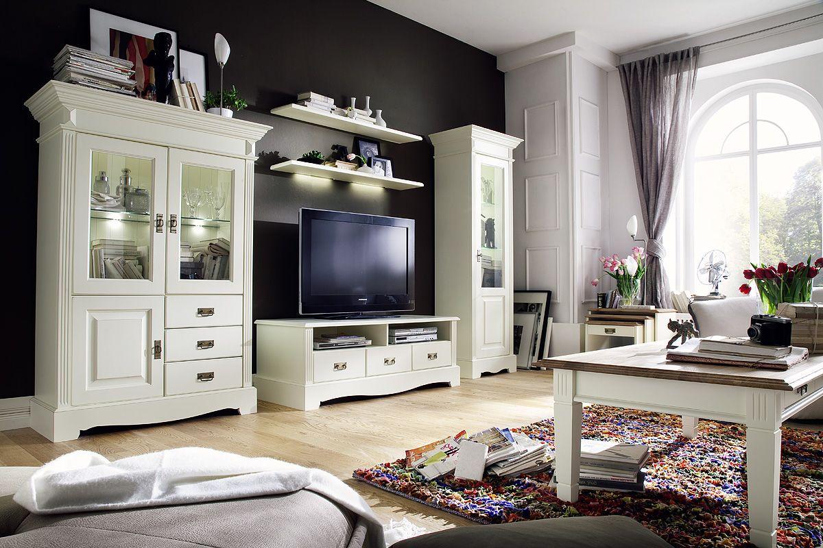 m bel wohnzimmer landhausstil. Black Bedroom Furniture Sets. Home Design Ideas