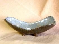 楕円脚付鉢