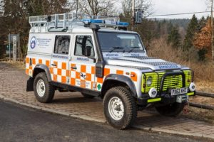 The Northumberland National Park Mountain Rescue Team Land Rover Curlew Delta