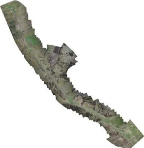 A stitched together image from the fixed wing UAV ©QuestUAV