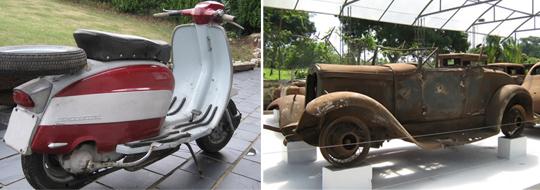 Moto y carro Plablo Escobar
