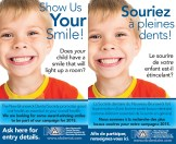 Smile Contest Tent Card