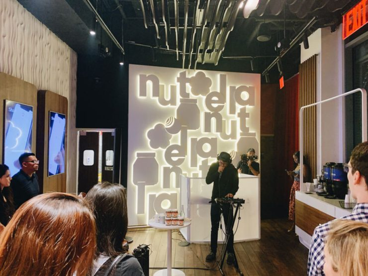sung beats at the nutella cafe