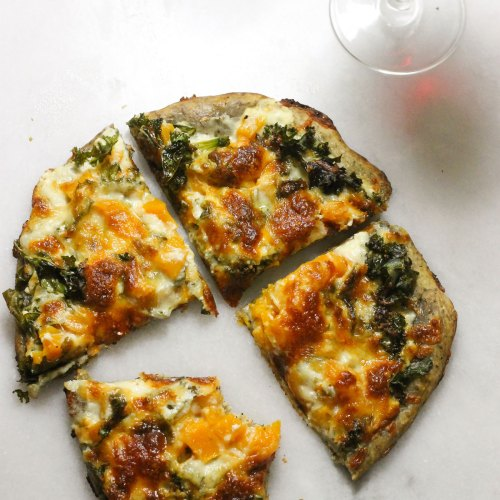 Butternut Squash and Kale White Pizza
