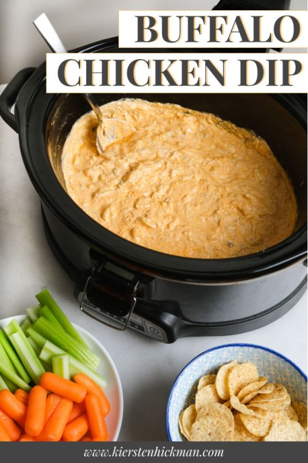 slow cooker buffalo chicken dip pin for pinterest