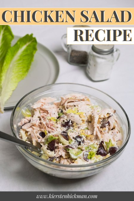 chicken salad recipe pin