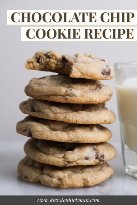 chocolate chip cookie pin for pinterest