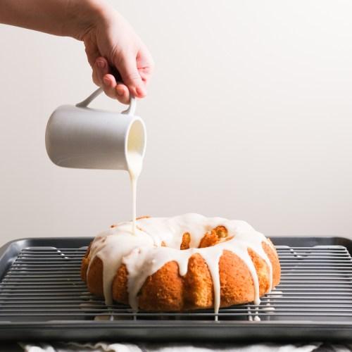 Lemon Sponge Cake with Vanilla Frosting