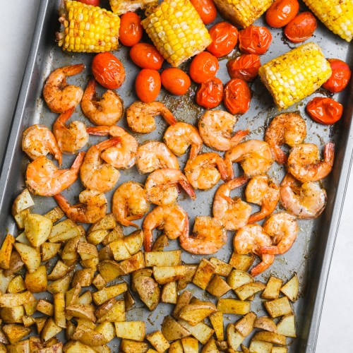 Cajun Shrimp Sheet Pan Dinner