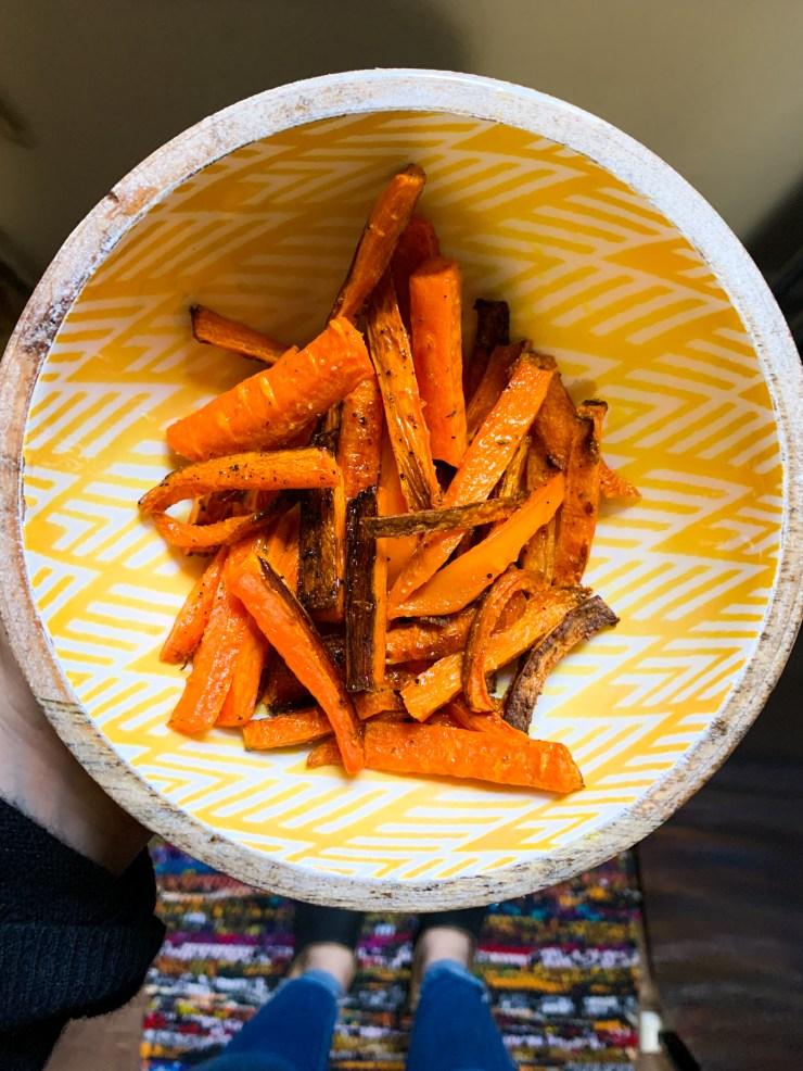 easy snack idea carrot fries