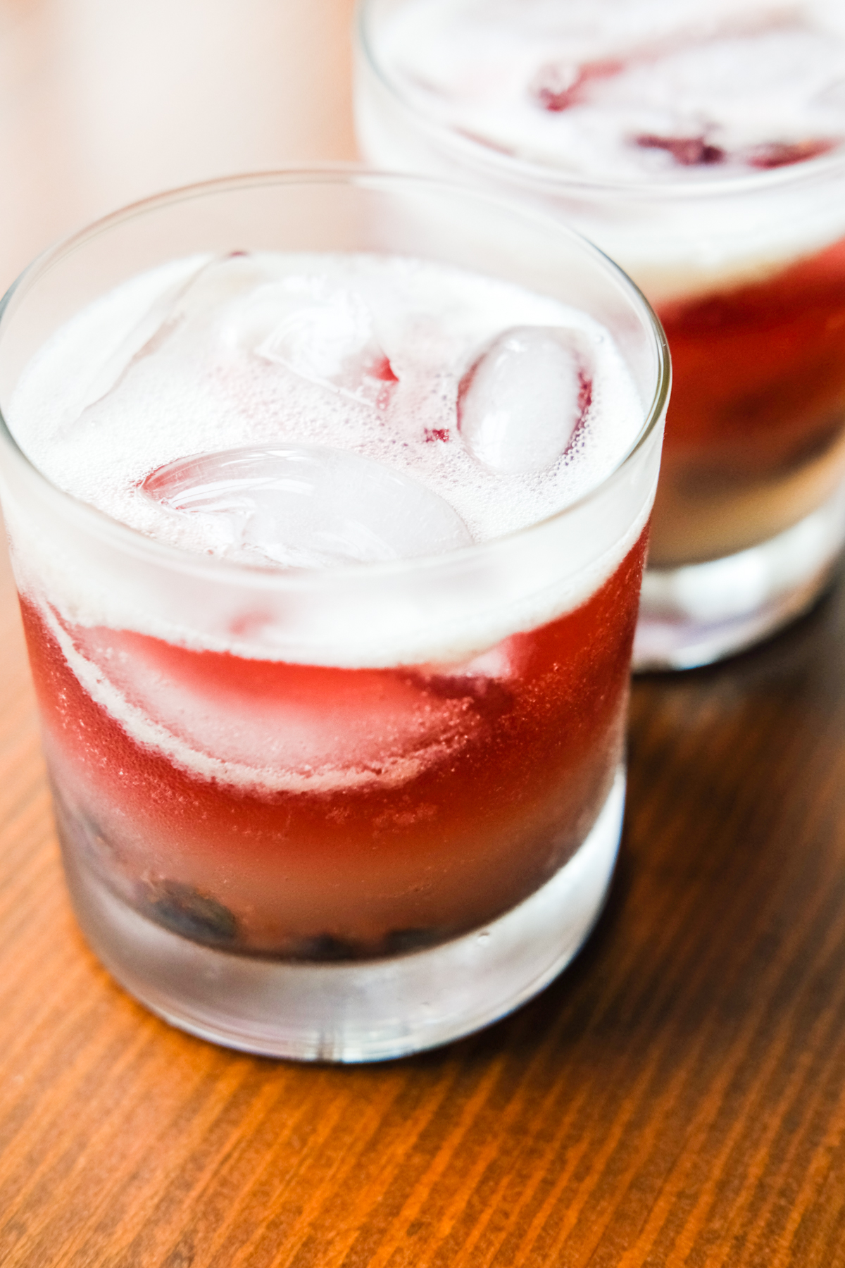 top of old glory cocktails with red wine float