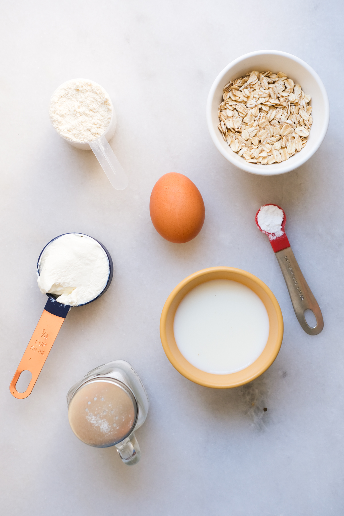 ingredients for a protein waffle