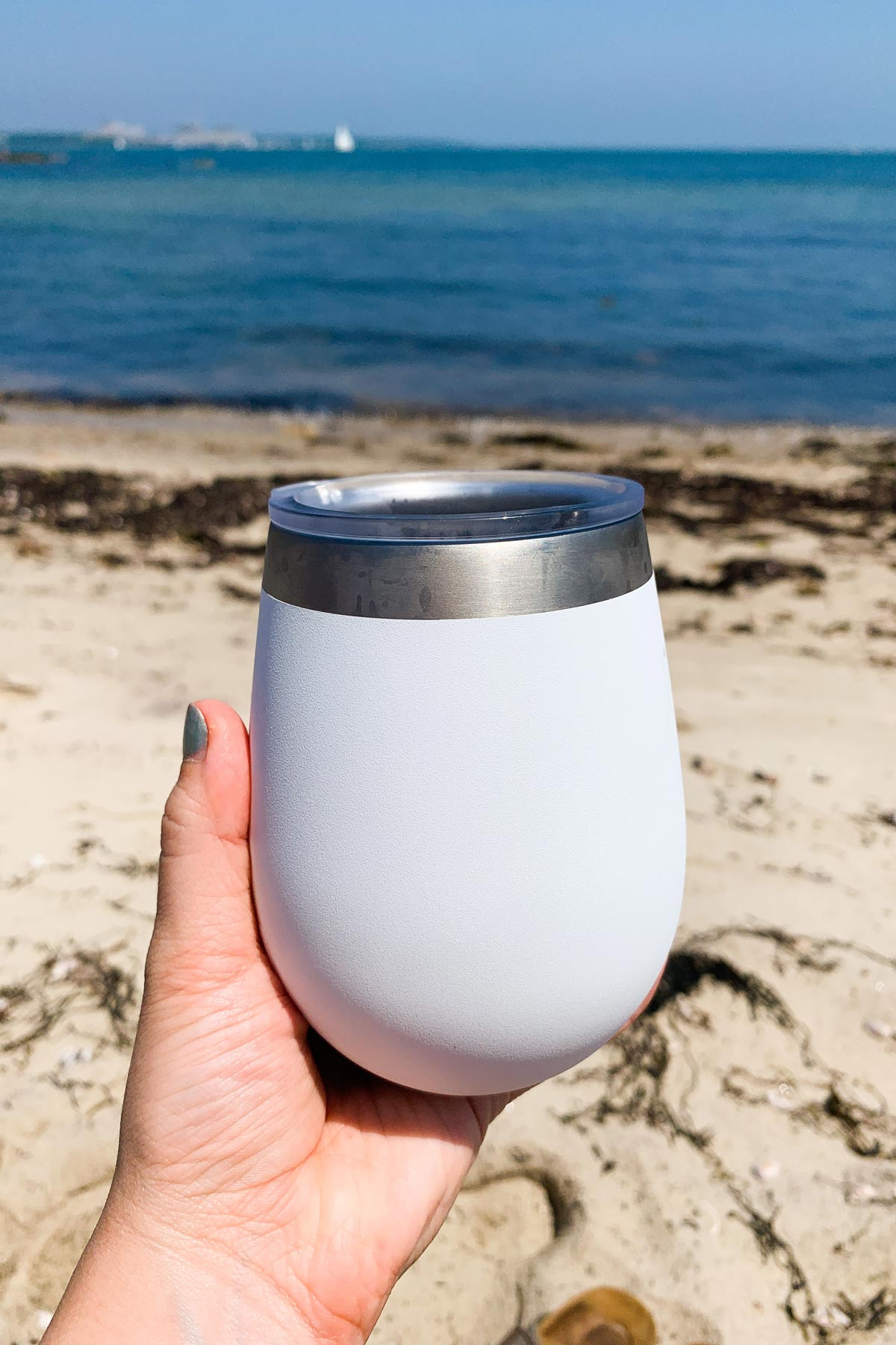 margarita in a yeti on the beach