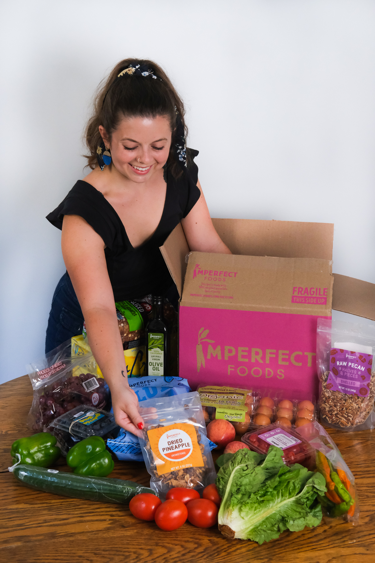 opening up a box of imperfect foods