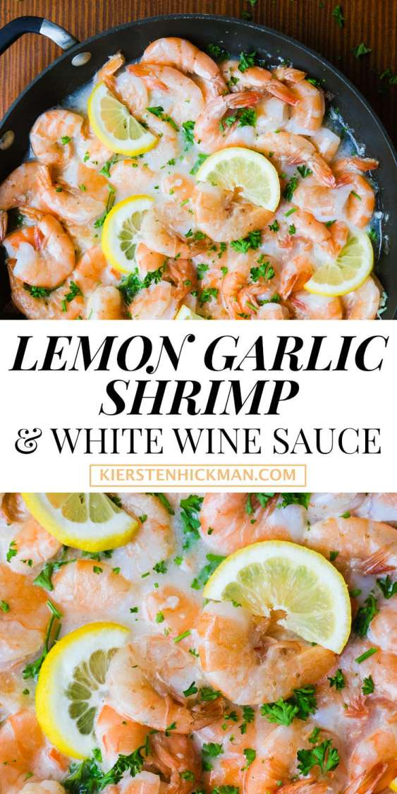 lemon garlic shrimp white wine sauce