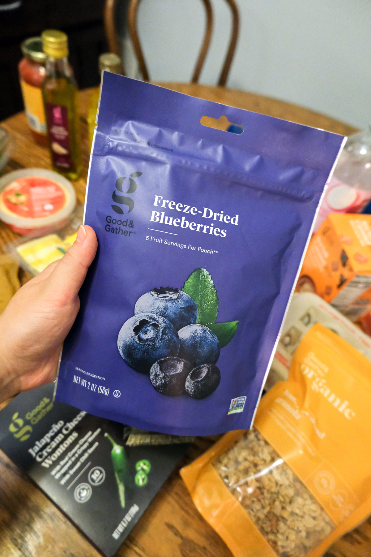 freeze dried blueberries Good & Gather from Target