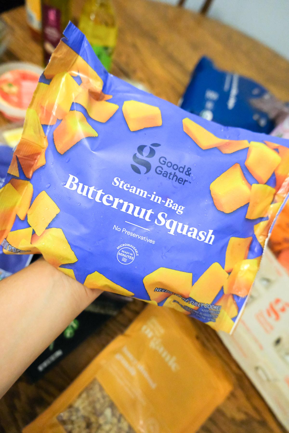 frozen butternut squash Good & Gather from Target